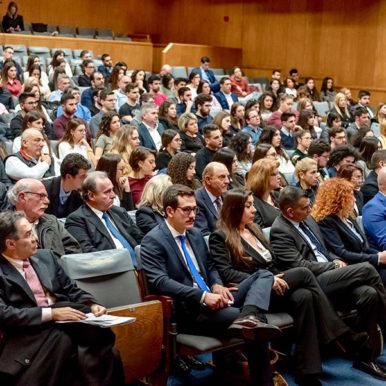 """Δρ. Παρή Ράπτη στην εκδήλωση """"Ευρωεκλογές σε μια Ευρώπη που αλλάζει""""."""